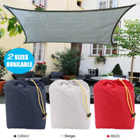16.5' Sun Shade Sail Outdoor Patio Pool Lawn Rectangle Canopy Cover UV Block