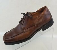 Johnston Murphy Mens Oxfords Brown Leather Apron Square Toe Lace Up Shoes 9.5M