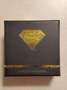 2021 DC COMICS SUPERMAN EMBLEM - 1 OZ. SILVER COIN - OGP COA