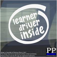 1 X DRIVER allievo interno-Finestra, Auto, Furgone, STICKER, SEGNO, veicolo, Adesivo, Pass, Scatola