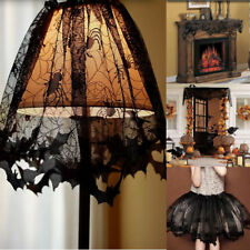 Halloween Lace Spider Lamp Shade/Curtain/Table Cover Cobweb Home Party Decor