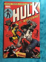 Hulk #181 Homage Variant, NM 9.6 Signed, but unknown by whom. Did Not Come W/COA
