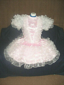 Sissy maid satin and organza dress Tailor-made