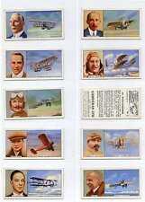 Full Set, Carreras, Famous Airmen & Airwomen 1936 VG+ (Gy031-442)