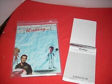 WAITING  NOTE PAD AND WRITING PAD NEVER USED AND 2 WAITING LUNCH BOXES
