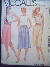 "McCalls Pattern 7076 1980s Skirt Variety Cut Size 10 Waist 25"""