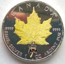 Canada 2005 Yellow Maple Leaf 5 Dollars 1oz Silver Coin