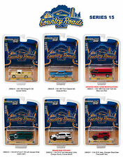 COUNTRY ROADS / RELEASE 15, SET OF 6 CARS 1/64 DIECAST MODEL BY GREENLIGHT 29850
