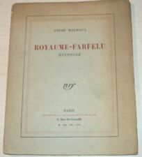 1928 1ST ED.  ROYAUME-FARFELU by ANDRE MALRAUX - SURREALIST FANTASY - LTD. ED.