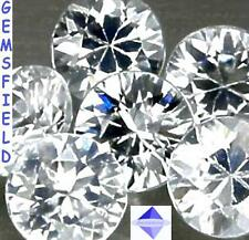 IF !!! ZIRCONS NATURELS du CAMBODGE - 6 brillants 1,5mm blanc diamant - AAA++