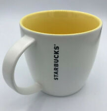 Starbucks Coffee MUG 2011 White and Yellow 14 fl oz Bone China Cup