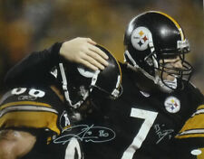 Ben Roethlisberger & Hines Ward Autographed Pittsburgh Steelers 16x20 Photo JSA