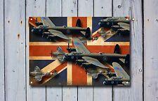 Spitfires & Lancaster Aeroplane, British, Enamel,Vintage Style Metal Sign. 21