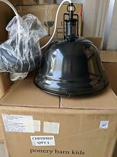 NIB Pottery Barn Kids Bronze Depot hanging pendant light