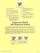 #9234 29c Eagle & Shield Stamps #2795-2797 USPS Souvenir Page
