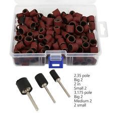 252X Drum Sanding Kit For Nail Drill Bits 1/2 3/8 1/4 120 Grit Dremel Tool Kit