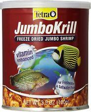 New listing Tetra Jumbo Krill Freeze Dried 3.5Oz Fish Food Jumbo Shrimp Natural Shrimp Treat