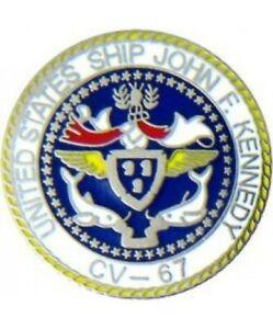 "U.S  NAVY USS John F Kennedy CV-57 aircraft carrier MILITARY Pin 1 """