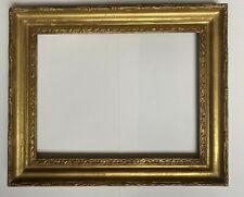 Cadre ancien XIX doré  à la feuille mesure feuillure 5F  35 cm x 27 cm