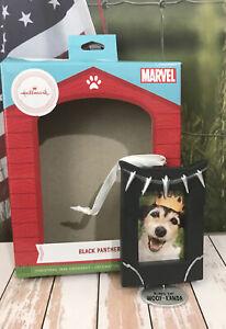 Hallmark Ornament Marvel Avenger Puppy Dog Photo Frame Black Panther Woof-Kanda