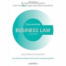 Business Law Concentrate: Law Revision and Study Guide by James Marson, Katy Ferris (Paperback, 2016)