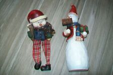 Lot of 2 snowman figurines.Christmas ornament/decoration.Slightly used.