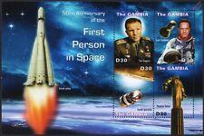 YURI GAGARIN/Scott Carpenter/VOSTOK Spacecraft/First Man Space Stamp Sheet