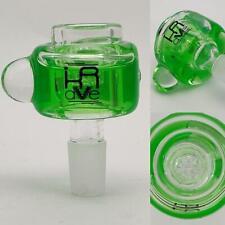Krave Freezable 14mm Glass Slide Bowl - Honeycomb screen - Green Hookah pipe