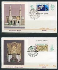 Turkish Cyprus 1983 Europa Souvenir Sheet On Two First Day Covers
