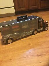 Hot Wheels Showcase 28 semi truck Vehicle Storage Display Case Carrying car