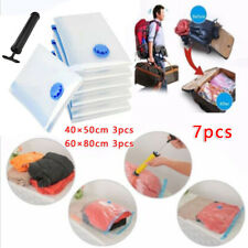 7pcs Camping Travel Vacuum Storage Bag Space Saving Cleaning Case Compression