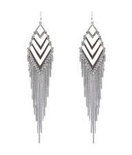 12 centimetri argento stile egiziano orecchini colorati nappa chandelier