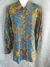 Vintage Fenn Wright Manson Intro Shirt Size Small Floral Print Silk Oversized