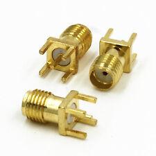 5stk. Neu SMA Female Jack Solder PCB Mount Straight Connector Steckverbinder