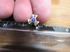 Alpha Phi Omega Older Screwback Pledge Fraternity Sorority Pin    (17G1)