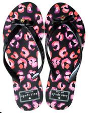 a304499419b3 Kate Spade Pink Black Floral Flip Flops Shoes Sandals Cheetah NEW Boxed Sz 7