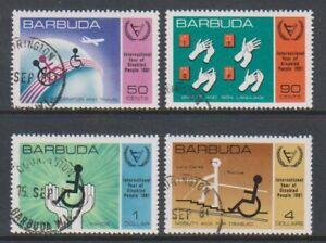 Barbuda - 1981, International Year of Disabled Persons set - F/U - SG 576/9