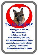 German Shepherd  Dog  Design Metal Door Sign