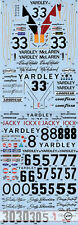 1/12 YARDLEY M23 ICKX HAILWOOD HOBBS TRANSDECAL FOR TAMIYA M23 McLAREN