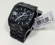Diesel Men's Trojan Black Dial Black Acetate Plastic Bracelet Watch