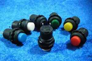6pcs,NEW momentary Door Bell Horn OFF-(ON) Push Botton Switch 12v 12mm Portion