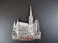 Vienna Vienna Metal Magnet St.Stephen's Cathedral 7,5 CM, Austria, New