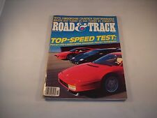 ROAD AND TRACK MAGAZINE MARCH 1986 TOP SPEED TEST