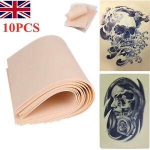 10Pcs 20x15cm Synthetic Learn Blank Tattoo Fake False Practice Skin UK Stock New