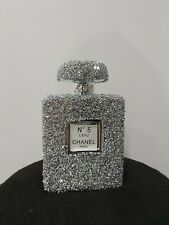 Crushed Crystal Diamond Silver Bling Perfume Bottle L Ornament NEW SPECIAL OFFER