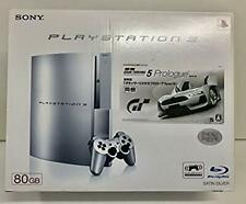 PLAYSTATION 3 80GB satin silver PS3 Gran Turismo 5 prologue Spec III included