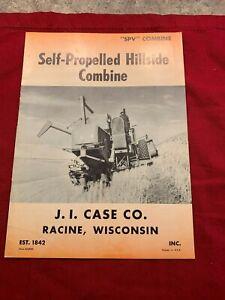 "Dealer Brochure Self-Propelled Hillside Combine J.J. Case Co. ""SPV"""