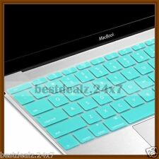 Teal Transparent Silicone Keyboard Protector Cover Skin for Macbook Air 13""