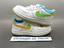 Girls Nike Air Force 1 '07 Low LE White Pro Cyan Cyron Toddler 344009-111 sz 10C