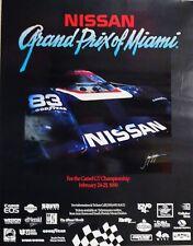 ORIGINAL POSTER NISSAN GRAND PRIX SPORTS CAR MIAMI 1990 - CM. 55 x 70